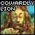 Cowardly Lion 'Wizard of Oz':